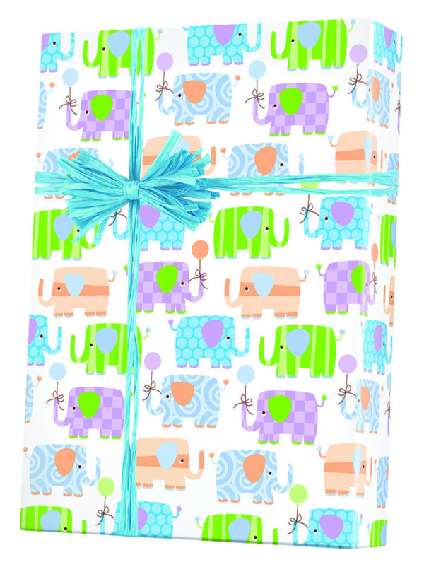 Baby Elephants Wrapping Paper