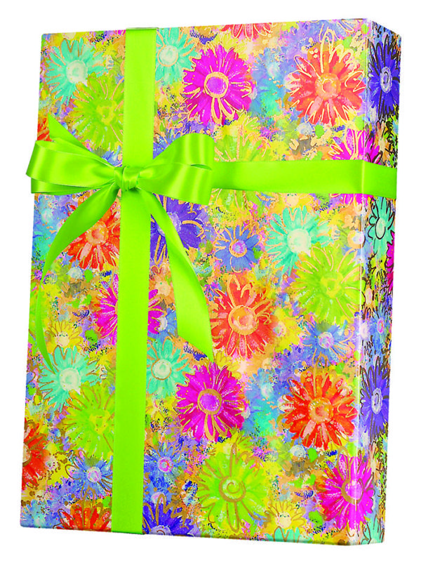 Gilded Daisies Wrapping Paper