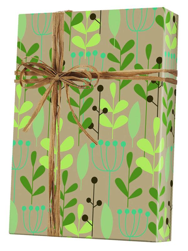 Leaves & Berries - Kraft Wrapping Paper