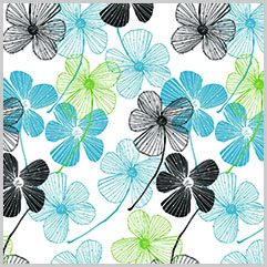 Floral Lines Printed Tissue Paper