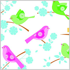 Song Birds Printed Tissue Paper