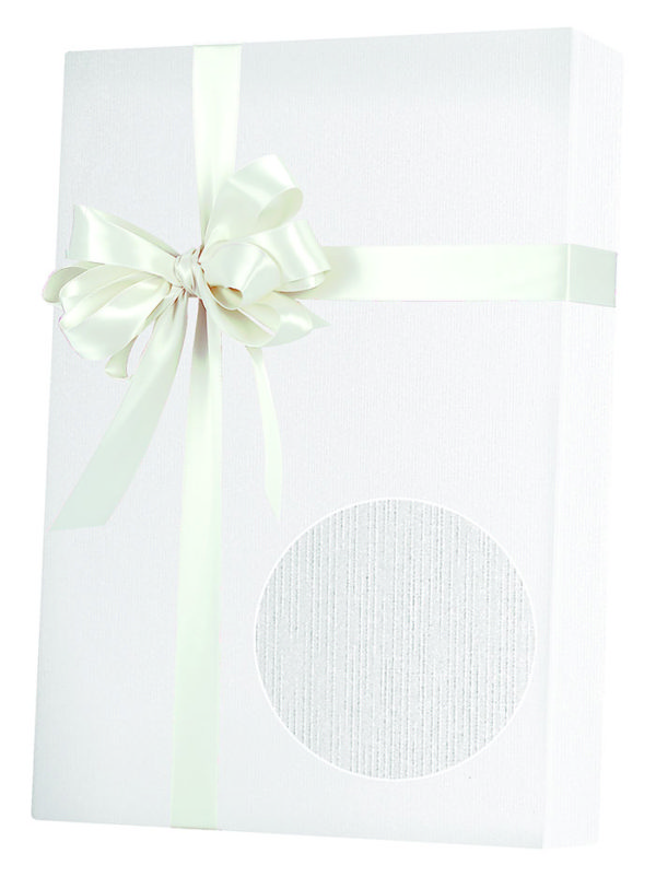 White Linen Wrapping Paper