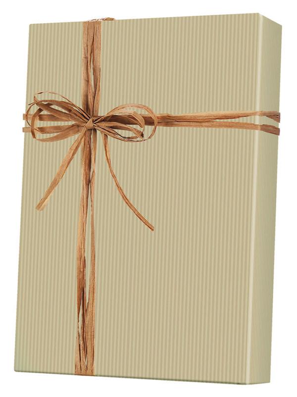 Pinstripe - Kraft Wrapping Paper