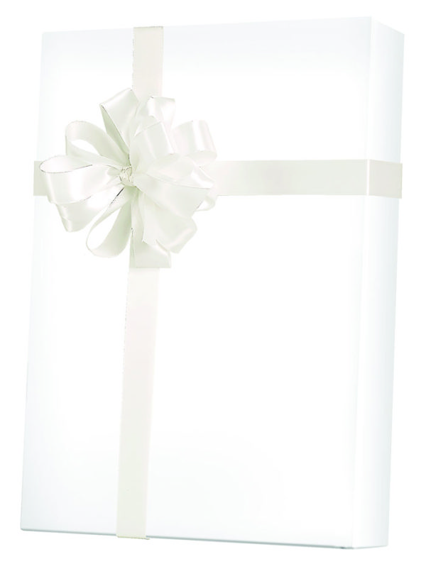 White Gloss Wrapping Paper