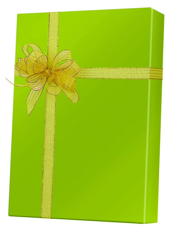 Shimmer Frost Leaf Wrapping Paper