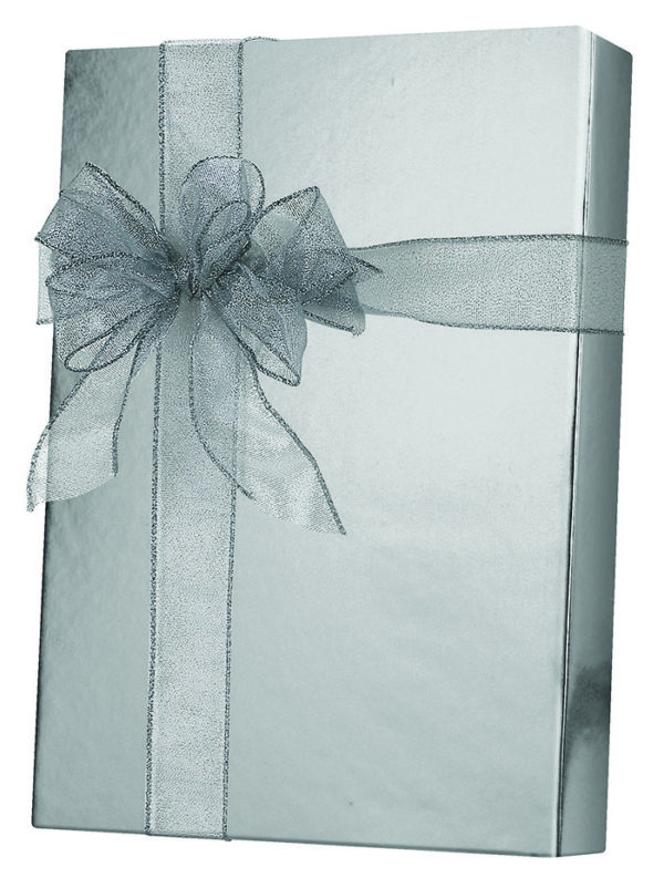 Silver Metallic Wrapping Paper