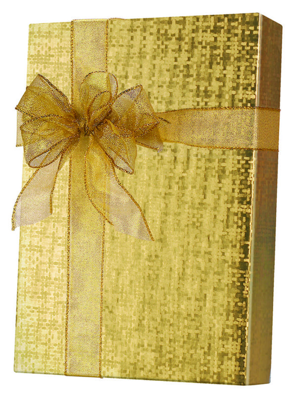 Warm Gold Spun Sheen Wrapping Paper