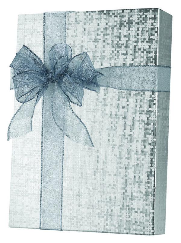 Silver Spun Sheen Wrapping Paper
