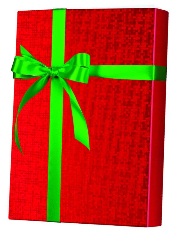 Red Spun Sheen Wrapping Paper