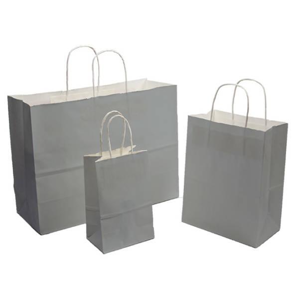 Gray Tint on White Kraft Paper Shopper