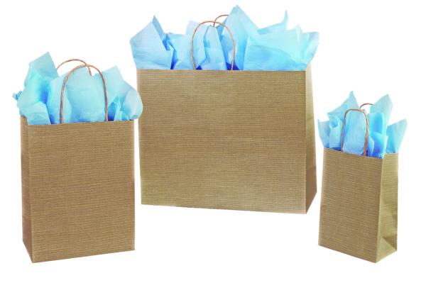 Burlap Paper Shopping Bags