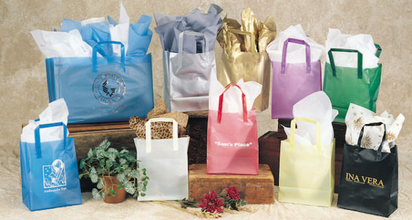 Multi Colored Trifold Shoppers