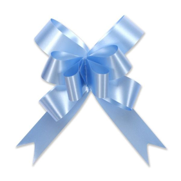 Light Blue Pull Bow