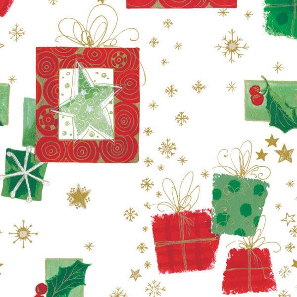 Modern Christmas Snowflake Printed Tissue Paper