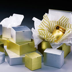 Gold/Silver Linen Foil Gift Boxes