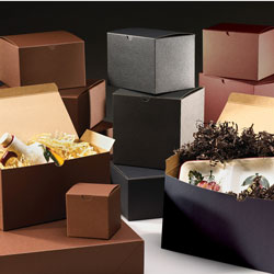 Brown & Black Pinstripe Gift Boxes