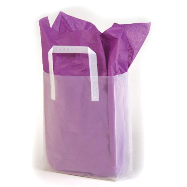 Plain Clear Tri-Fold Shopping Bag