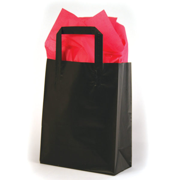 Plain Black Tri-Fold Shopping Bag