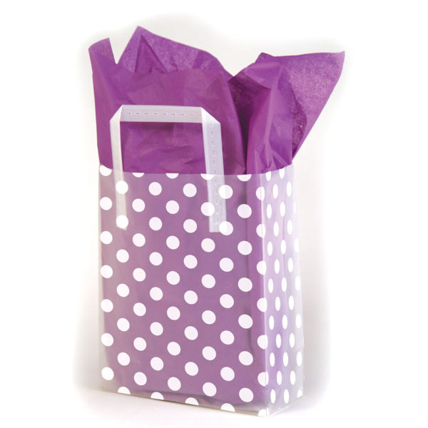 Dots - Printed Tri-Fold Shopping Bag