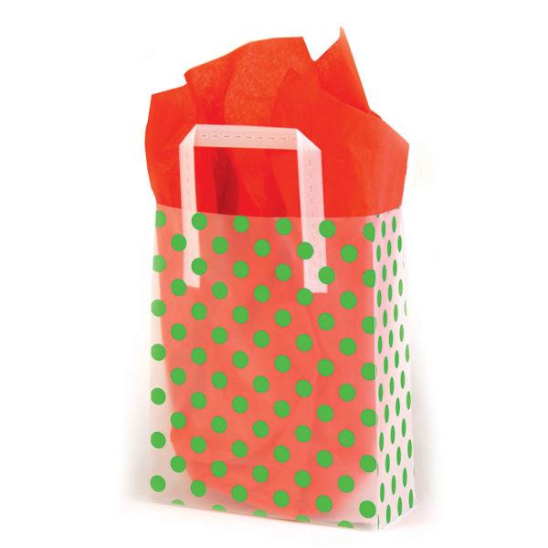 Green Dots - Printed Tri-Fold Shopping Bag