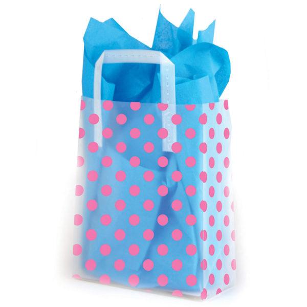 Pink Dots - Printed Tri-Fold Shopping Bag