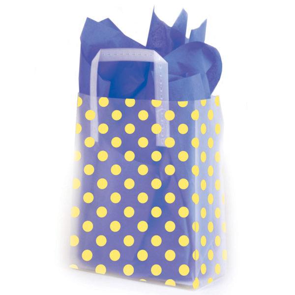Yellow Dots - Printed Tri-Fold Shopping Bag