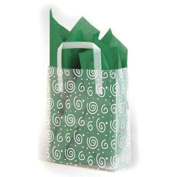 Swirls - Printed Tri-Fold Shopping Bag