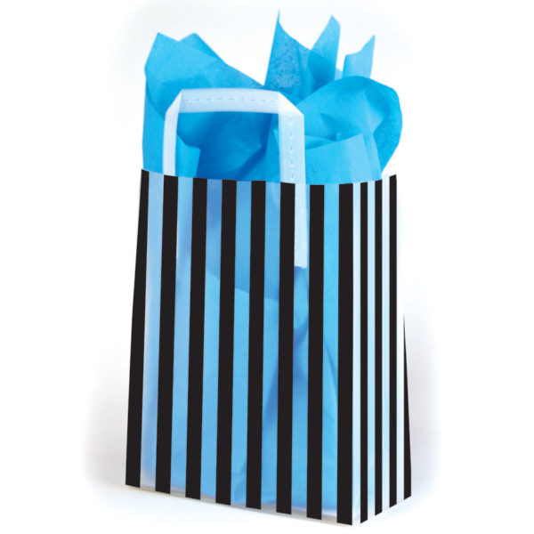Stripes Black - Printed Tri-Fold Shopping Bag