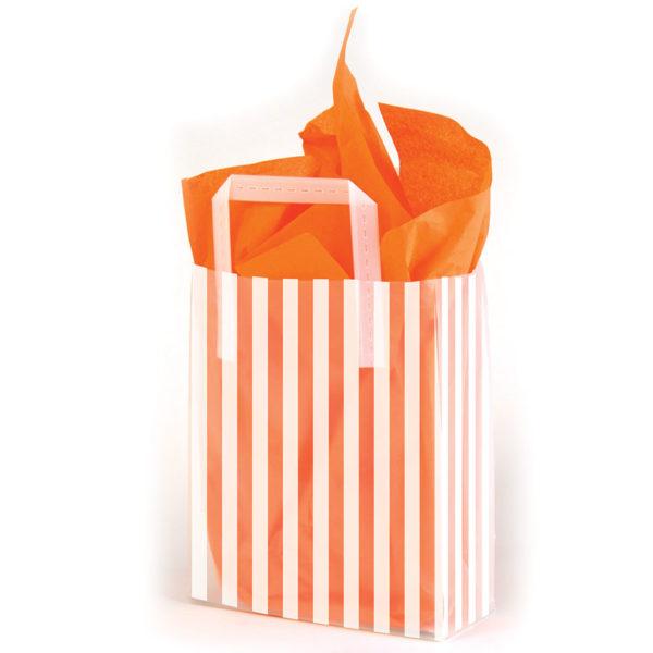 Stripes White - Printed Tri-Fold Shopping Bag
