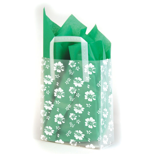 Hibiscus - Printed Tri-Fold Shopping Bag