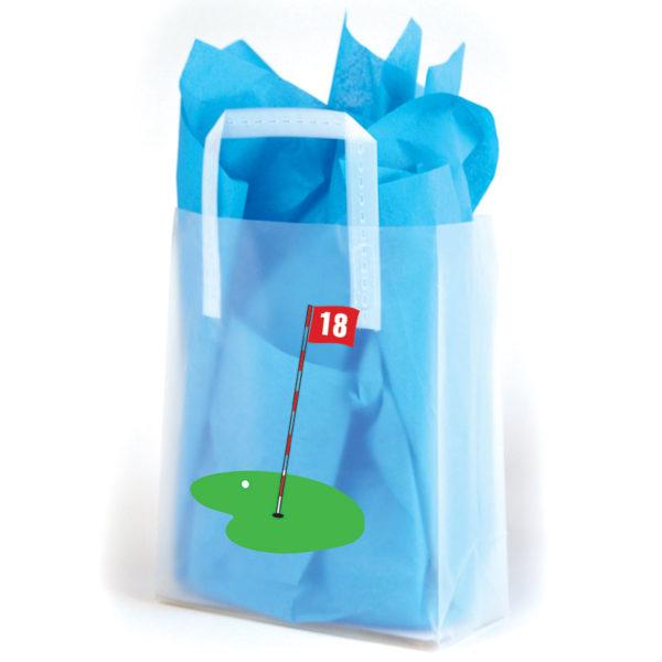 18th Hole - Printed Tri-Fold Shopping Bag