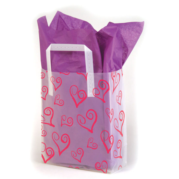 Swirly Hearts - Printed Tri-Fold Shopping Bag