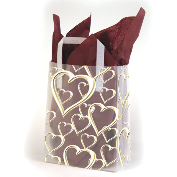 Golden Hearts - Printed Tri-Fold Shopping Bag