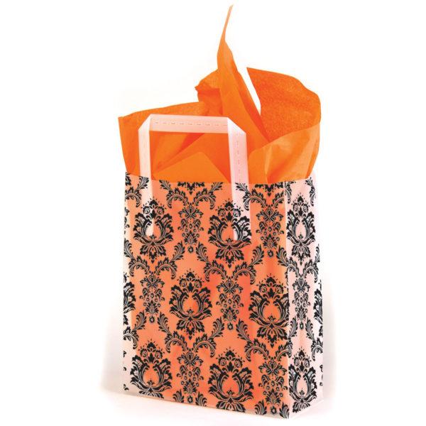 Black Damask - Printed Tri-Fold Shopping Bag