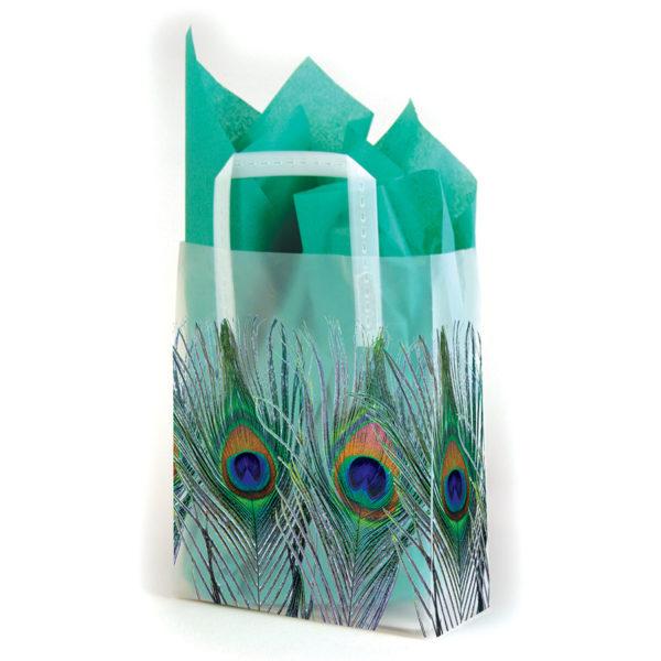 Peacock - Printed Tri-Fold Shopping Bag