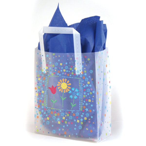 Flower Trio - Printed Tri-Fold Shopping Bag