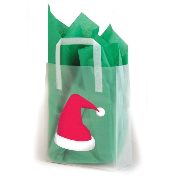 Christmas Hat - Printed Tri-Fold Shopping Bag