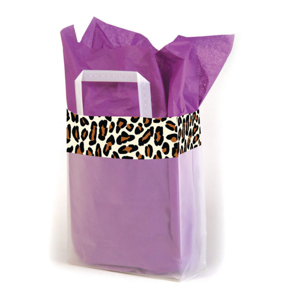 Leopard Trim - Printed Tri-Fold Shopping Bag