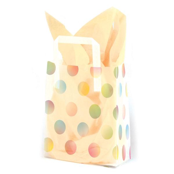 Watercolor Dots - Printed Tri-Fold Shopping Bag