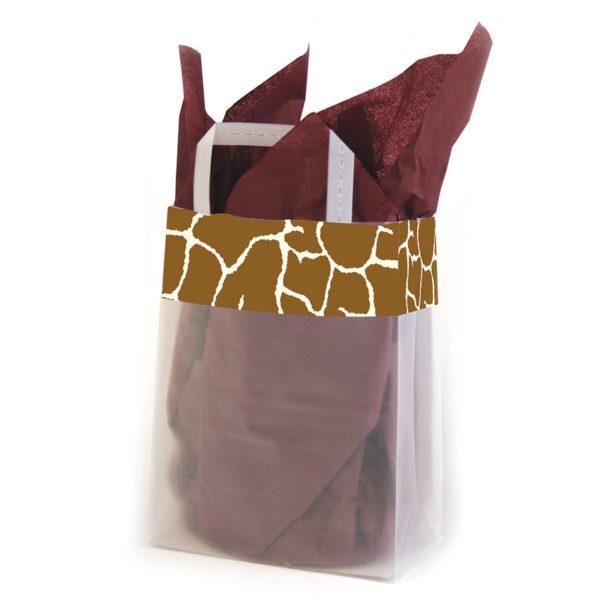 Giraffe Trim - Printed Tri-Fold Shopping Bag