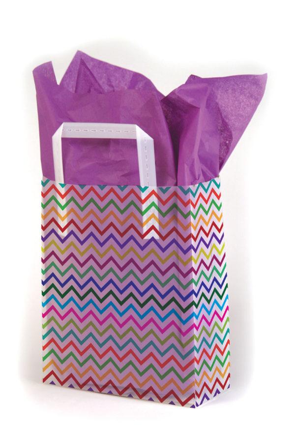 Zig Zag - Printed Tri-Fold Shopping Bag
