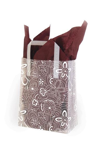 Floral Sketch White - Printed Tri-Fold Shopping Bag