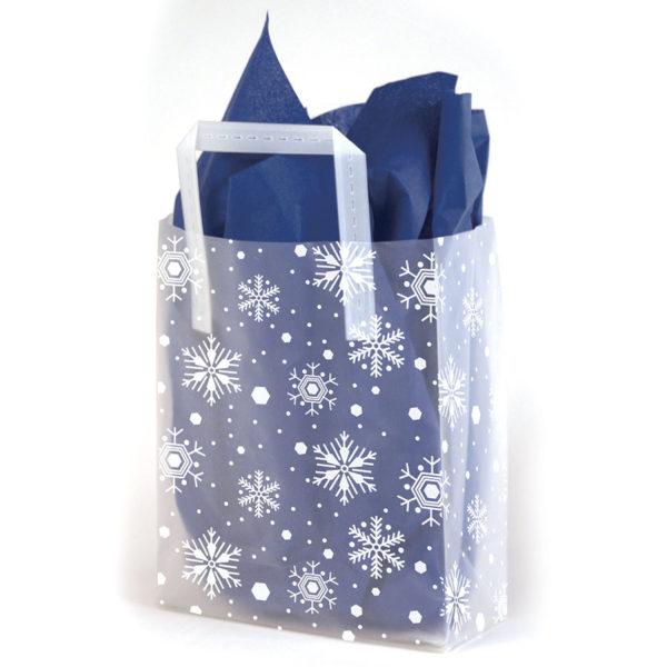 Snowflake - Printed Tri-Fold Shopping Bag