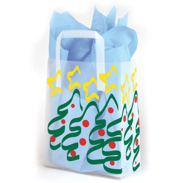 Trees and Stars - Printed Tri-Fold Shopping Bag