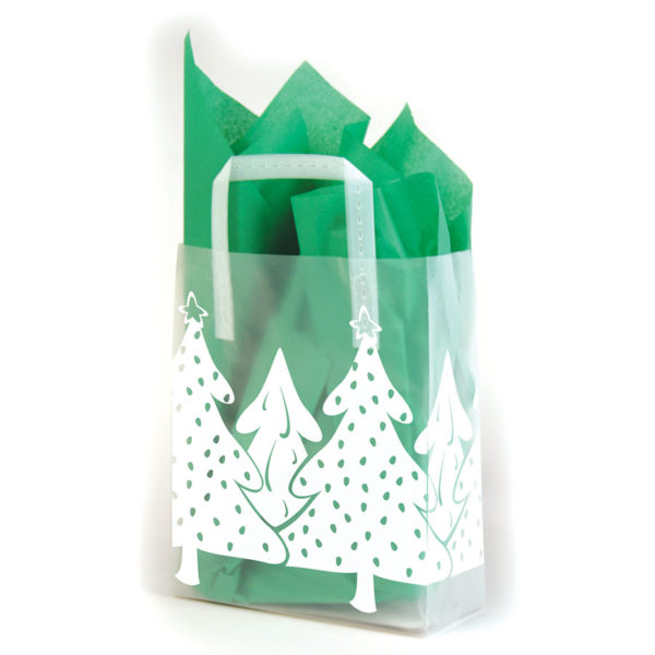 White Christmas - Printed Tri-Fold Shopping Bag