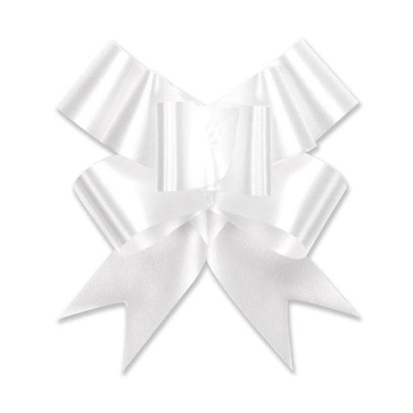White - Flora Satin Bow