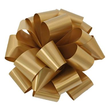 Holiday Gold Notched Bow