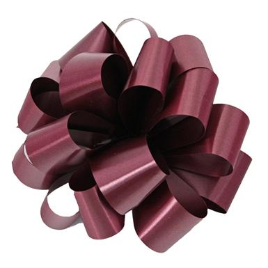 Burgundy Notched Bow