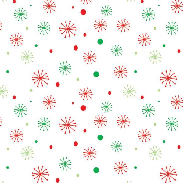 Seasons Greetings Snowflake Printed Tissue Paper
