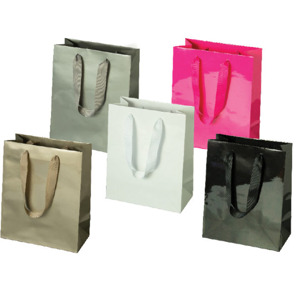 Laminated Manhattan Bags - Gloss